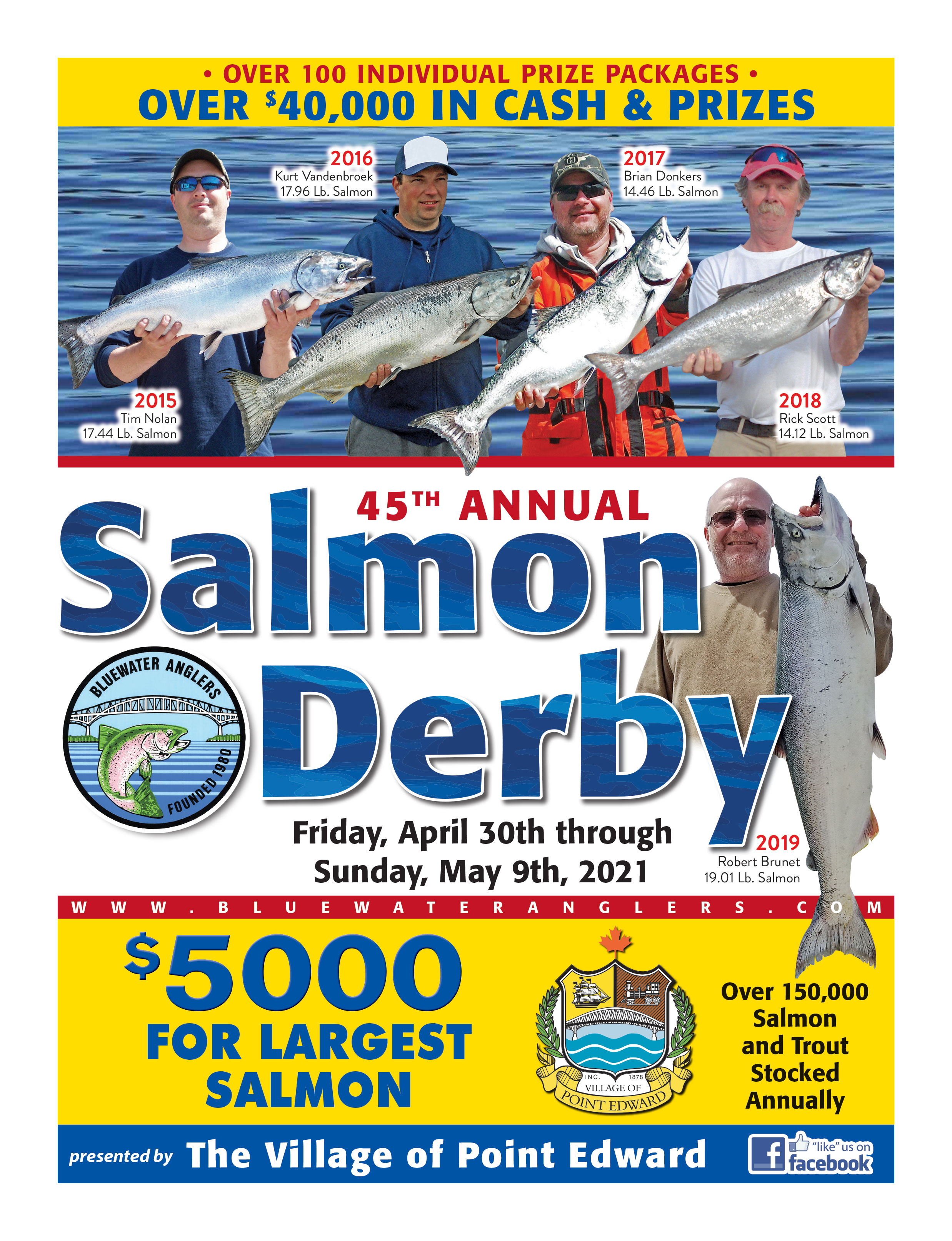 2021 Bluewater Anglers Salmon Derby Poster