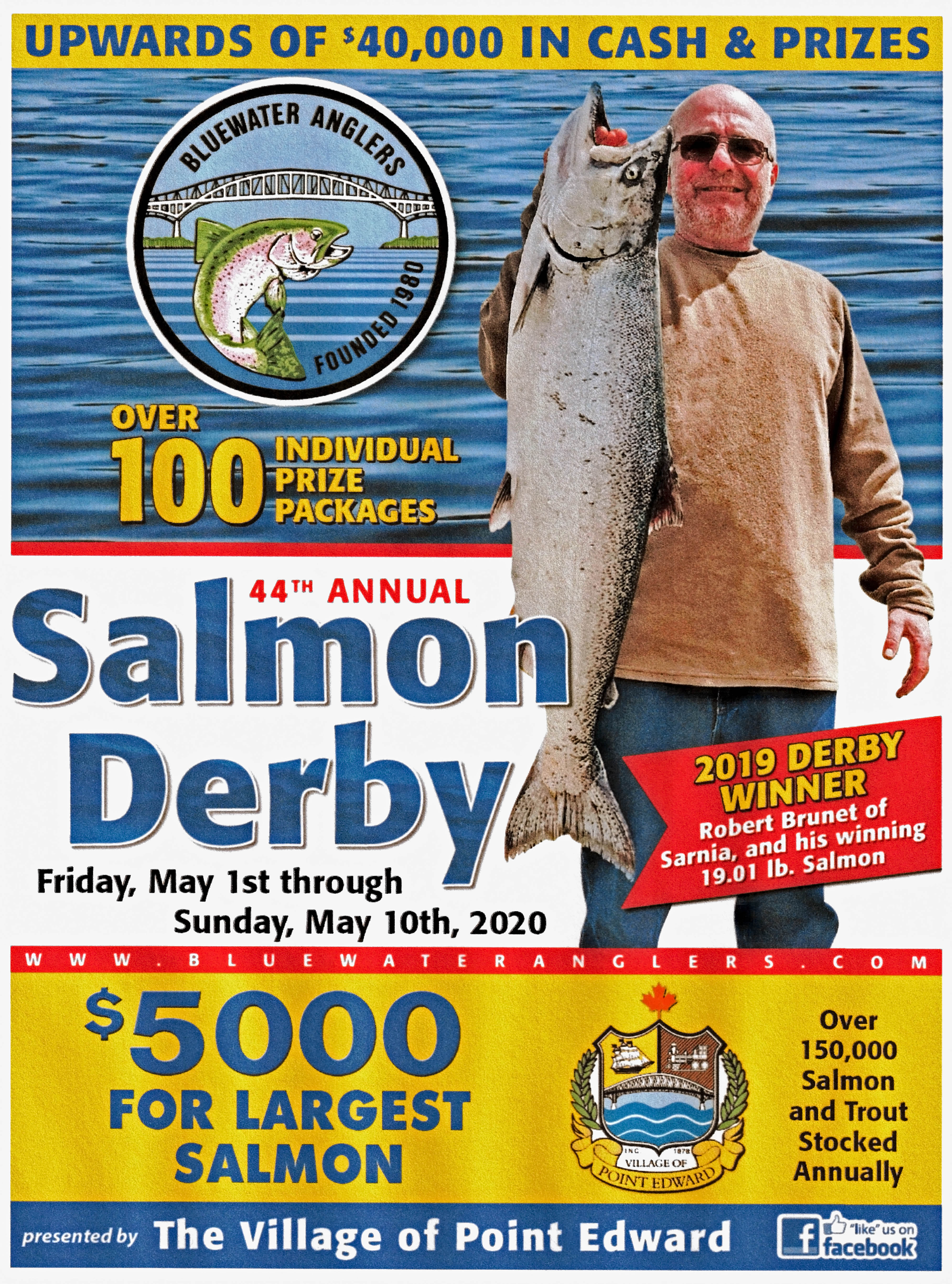 2020 Bluewater Anglers Salmon Derby Poster