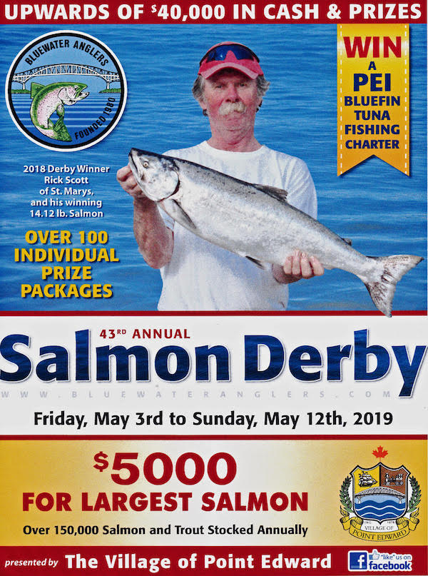 2018 Bluewater Anglers Salmon Derby Poster